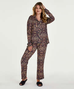 Pyjamassæt Paisley, blå