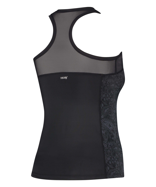 HKMX Sport slim fit tank top, sort, main