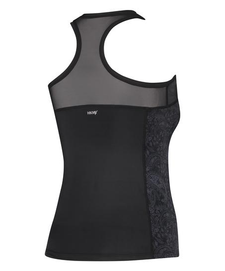 HKMX Sport slim fit tank top, sort