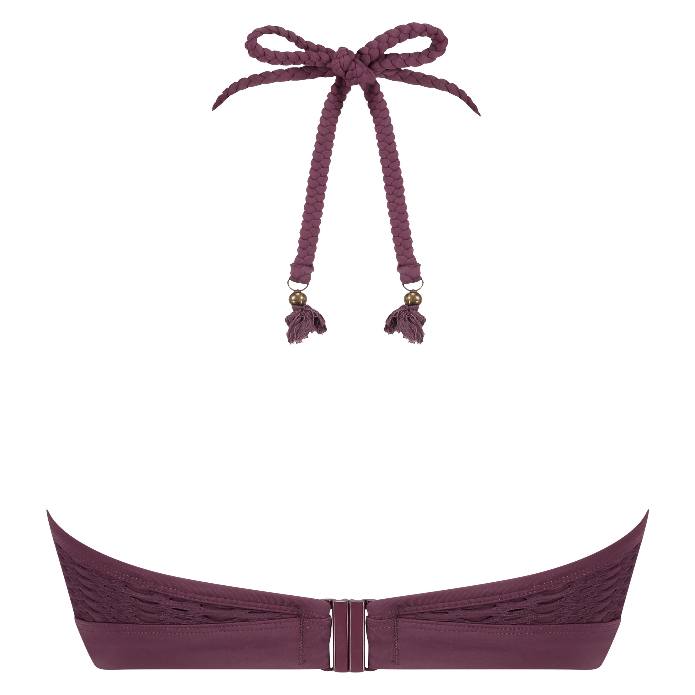 Borneo Mesh bikini-croptop med bøjler, lilla, main