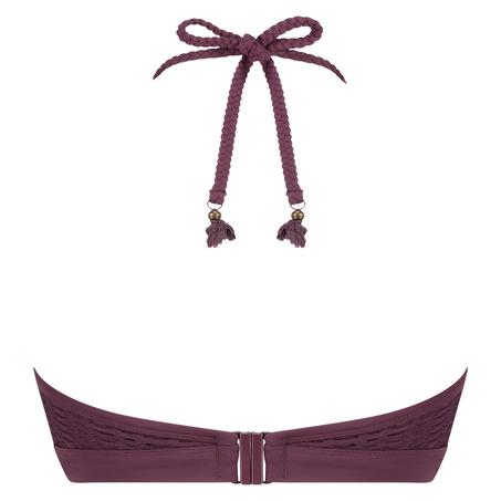 Borneo Mesh bikini-croptop med bøjler, lilla