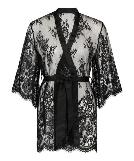 Lace Isabelle kimono, sort