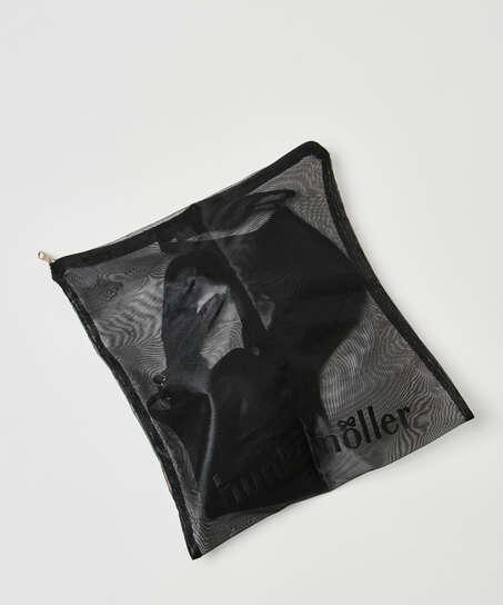 Vaskepose lynlås, sort
