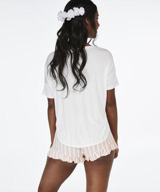 Bride jersey pyjamassæt, hvid