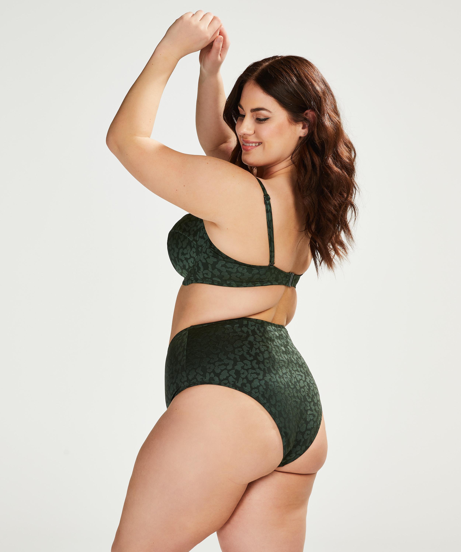 Formstøbt bøjle-bikinitop Tonal Leo Størrelse E +, grøn, main