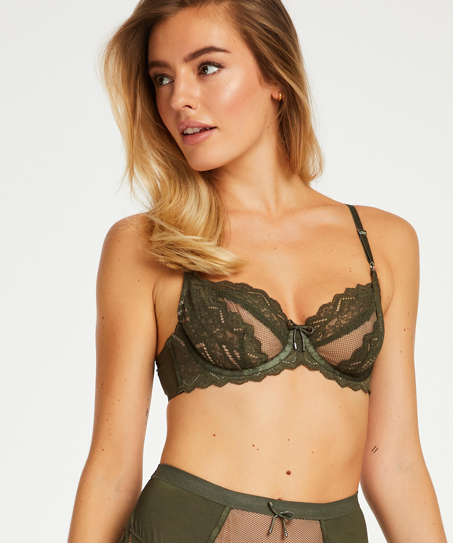 Ikke-formstøbt bøjle-bh Rabella I AM Danielle , grøn, main