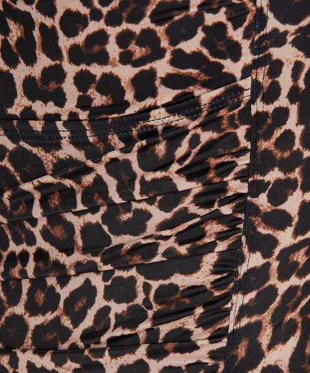 Leopard badedragt, Beige