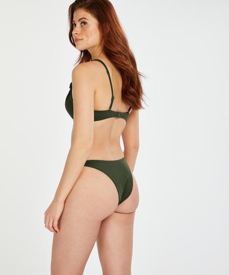Luxe bikinitop med push-up Størrelse A - E, grøn