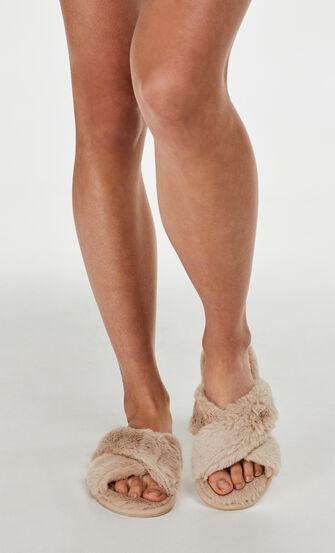 Cross Straps Indoor Sandal, hvid