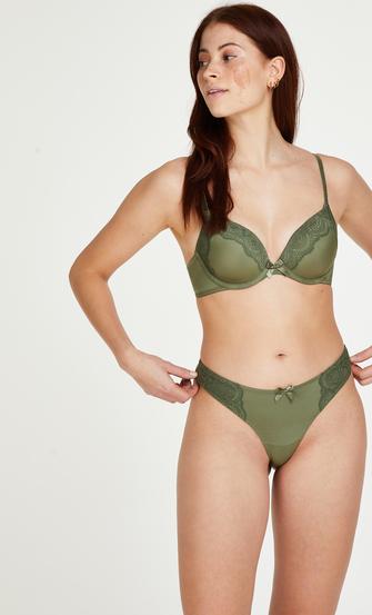 Formstøbt bøjle-bh Gina, grøn