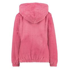 Fleece Fake Fur trøje, pink