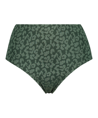 Tonal Leo høje bikinishorts, grøn