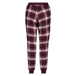 Check pyjamasbukser, rød