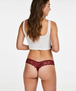 Lace Back usynlig g-streng, rød