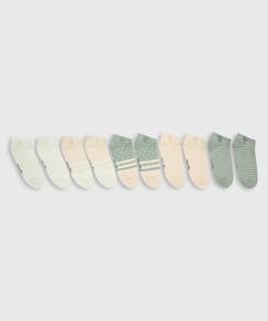 5 par trainerliner-sokker, hvid