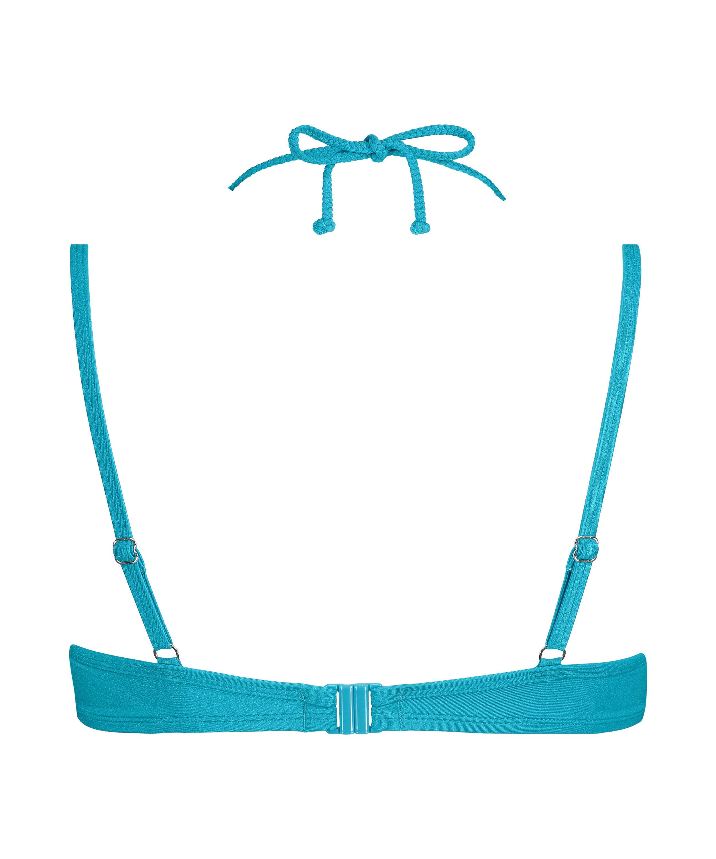 Celine formstøbt bikinitop med bøjle, blå, main