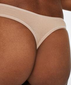 Pakke med 2 stk. string Cotton, tan