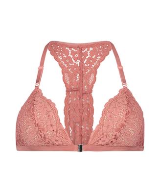 Rose vatteret trekantsbralette, pink