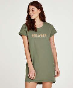 Kort natkjole Dreamer, grøn