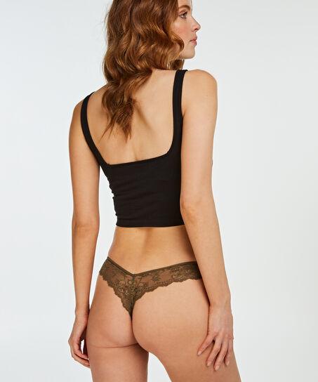 Lace Back usynlig g-streng, grøn