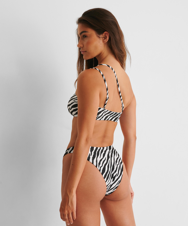 Bandeau bikinitop HKM x NA-KD, hvid, main