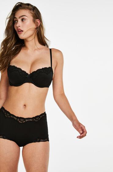 Hunkemöller Secret Lace shorts sort