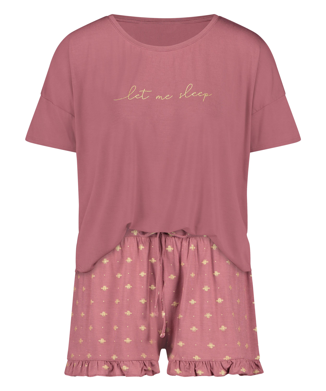 Kort pyjamassæt, pink, main