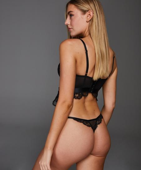 Heather g-streng, sort