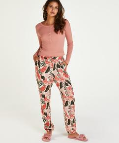 Pyjamasbukser Woven, Beige