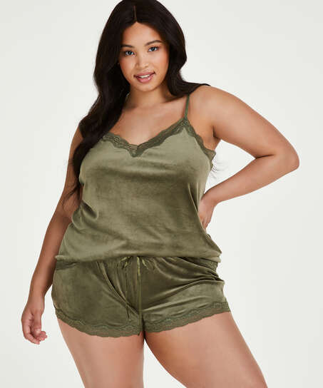Cami Velour Lace, grøn