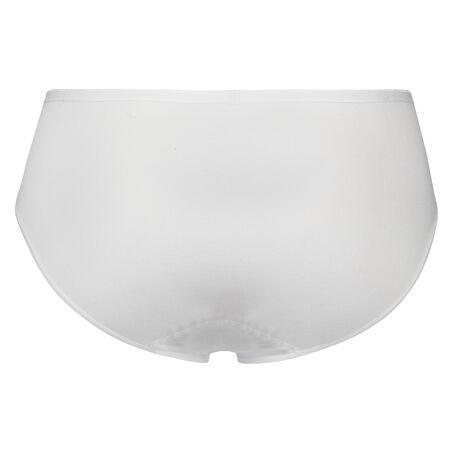 Superslip bikini bomuld, hvid