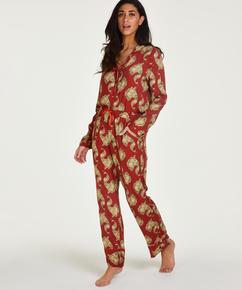 Tall Pyjamasbukser Woven, pink