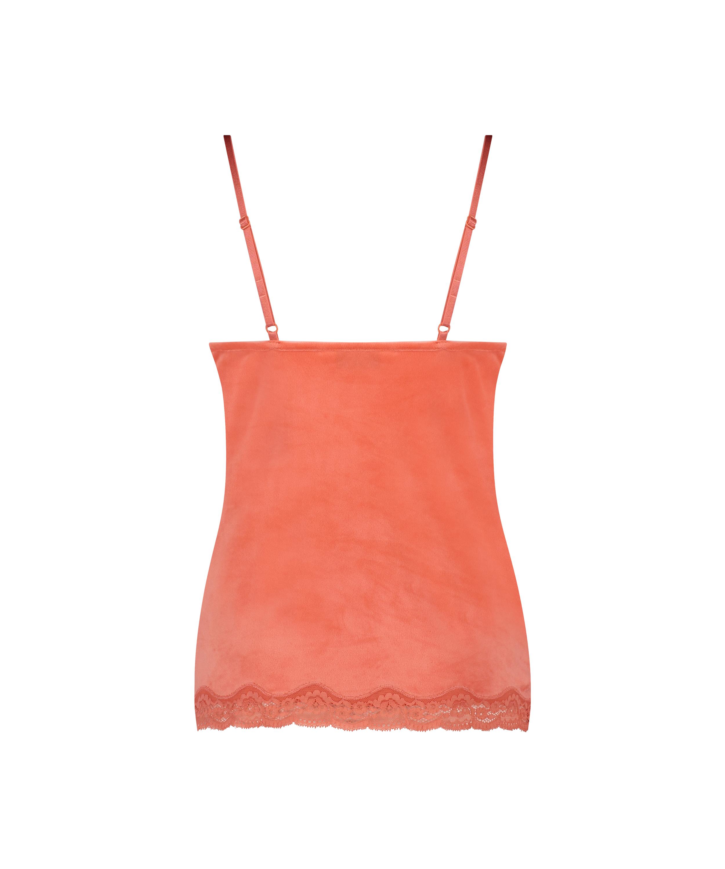 Cami Velour Lace, Orange, main