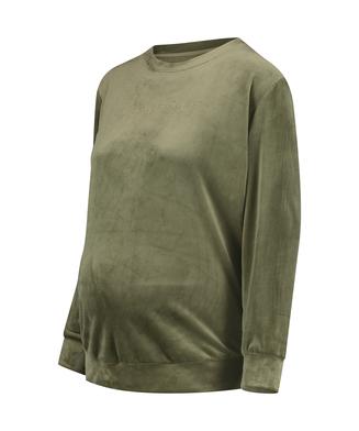 Graviditetstop Velour, grøn