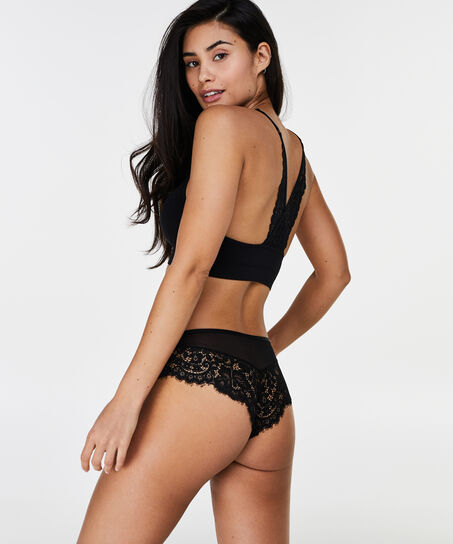 Marina Seamless Lace Back, sort