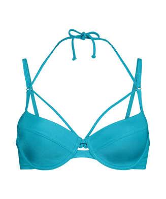 Celine formstøbt bikinitop med bøjle, blå