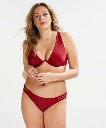 Ikke-formstøbt bikinitop med bøjle Pagoda, rød