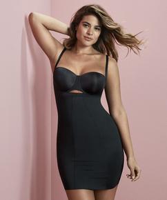Opstrammende kjole i scuba-stof - Level 3, sort