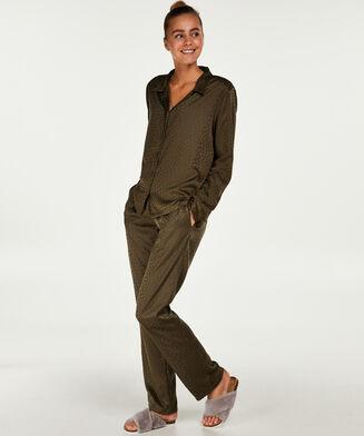 Satin pyjamasbukser, grøn