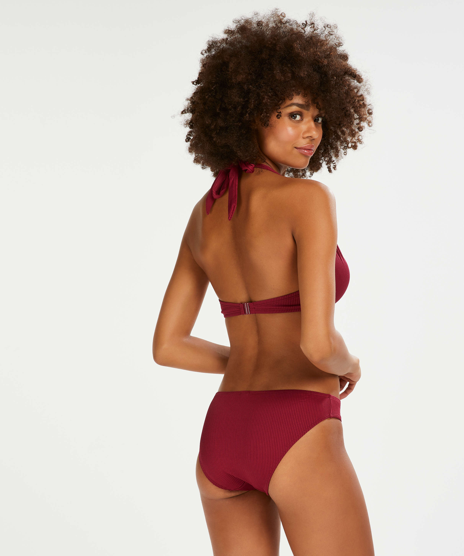 Formstøbt bøjle-bikinitop Golden Rings, rød, main