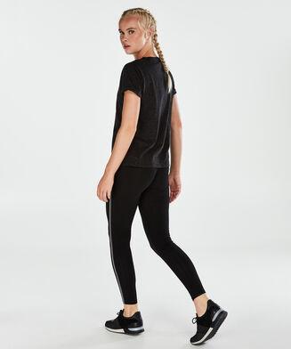 HKMX sportsshirt med korte ærmer, sort
