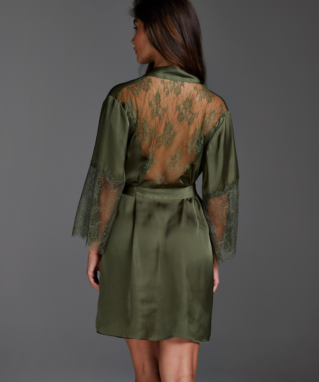 Kimono Satin Lily, grøn, main
