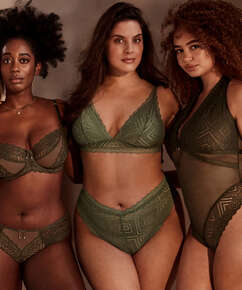 Brasiliansk trusse med højt snit Filomena I AM Danielle, grøn