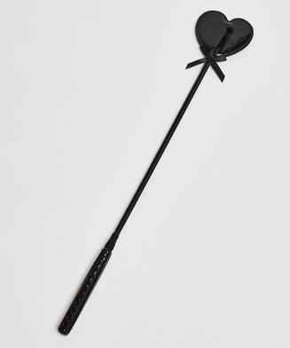 Privat pisk med læderagtigt look, sort