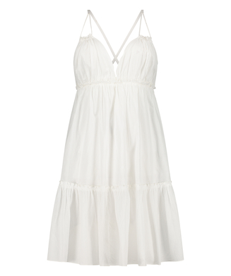 Strandkjole Tiered, hvid