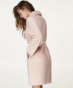 Fleecebadekåbe, pink
