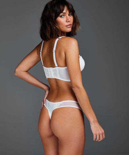 Formstøbt strapless longline-bøjle-bh Hannako, hvid