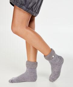 1 Par Sock Cosy Rib, Grå