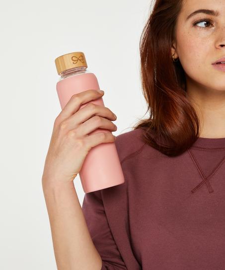 Vandflaske i glas, pink