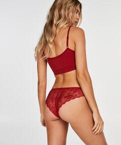 Lace Back usynlig brasiliansk trusse, rød